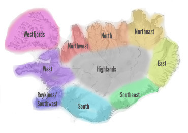 My north, my south, my east, my west: Directions in Iceland