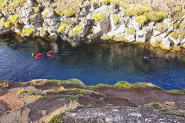 Snorkeling in Silfra with dive.is
