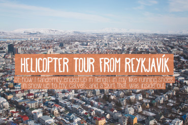 Helicopter tour from Reykjavík with Norðurflug
