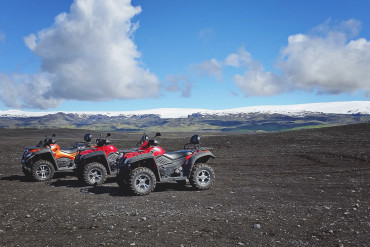 ATV tour in Sólheimasandur with Arcanum Glacier Tours
