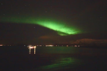 Sarah takes on Iceland: Chasing the Northern Lights by boat from Reykjavík