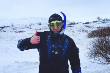 Black and Blue: Snorkeling and lava caving with Arctic Adventures